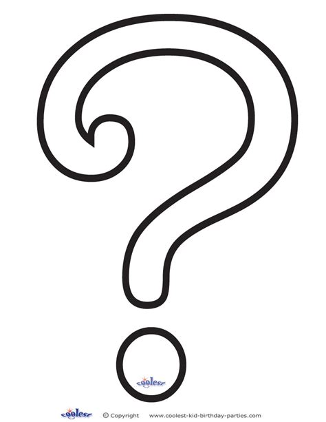 free coloring pages of question mark