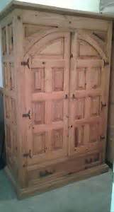 Pier One Armoire Pine Handcrafted Distressed Solid Wood Entertainment