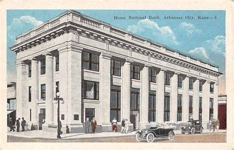 arkansas city kansas home national bank antique postcard