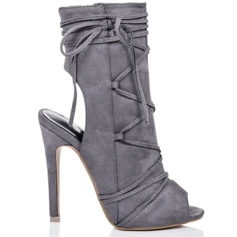 angkor grey ankle boots shoes from spylovebuy