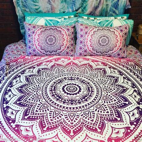 Indian Quilt Covers by Ombre Mandala Boho Duvet Cover Indian Quilt Cover