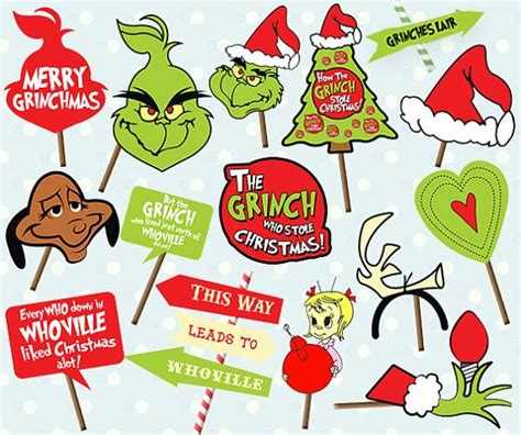 grinch christmas party props the 25 best photo booth props ideas on photobooth work