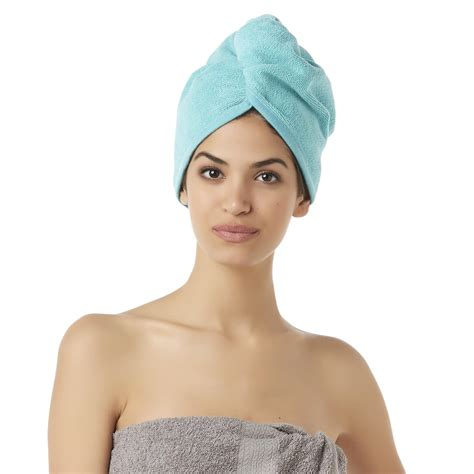 how to wrap hair for bed essential home 2 pack hair wrap towel home bed bath