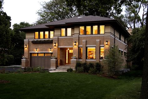 new prairie style home front cantilever modern exterior chicago by west studio residential gallery prairiearchitect