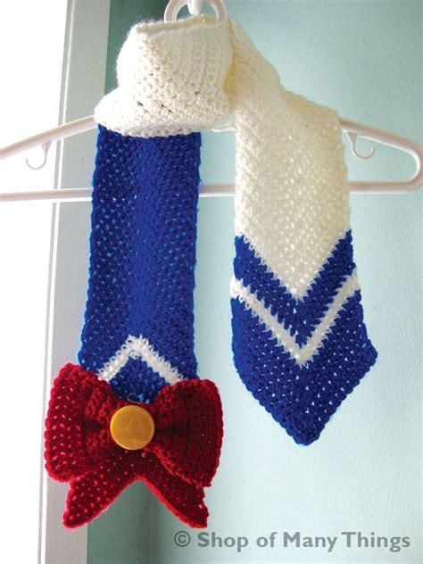 sailor moon knitting patterns sailor moon sailor moon inspired scarf my
