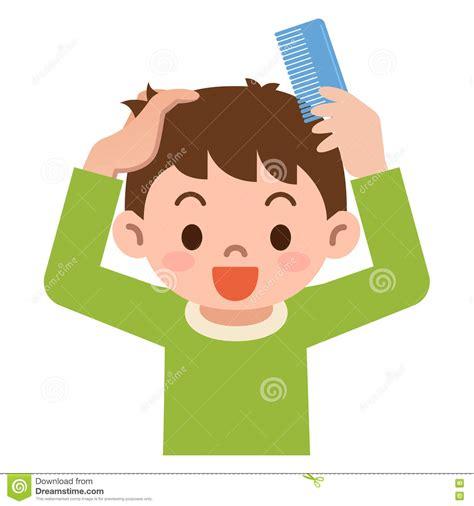 Comb Hair Clip comb hair boy clipart clipground