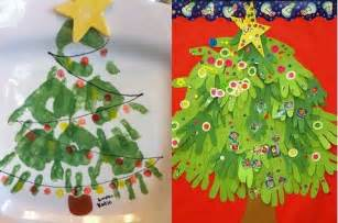 Handprint christmas kids crafts wreath tree reindeer snowman