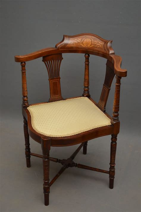edwardian corner chair antiques atlas