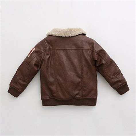 Bomber Jacket Hitam Cokelat Abu Navy marc janie baby toddler boys flight leather bomber jacket 24 months coffee buy