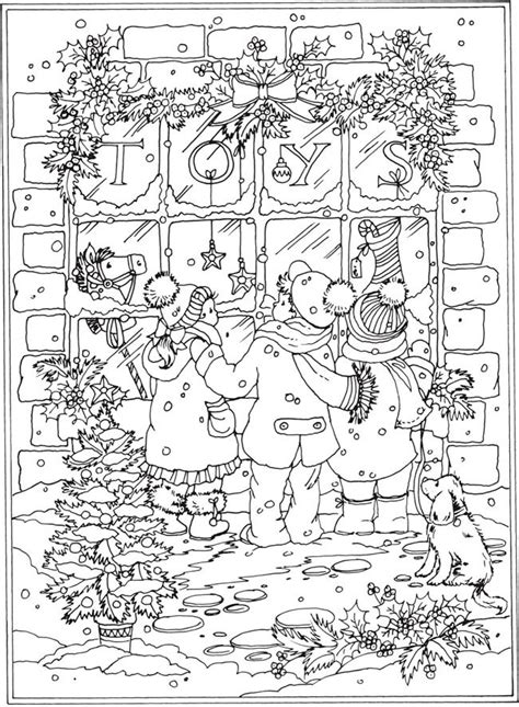 free coloring pages winter wonderland welcome to dover publications from creative haven winter