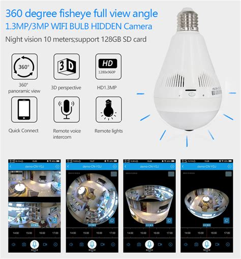 Lu Led 360 Derajat Motion Angle T1910 1 960p 360 degree 1 3mp light shaped smart home ip vr