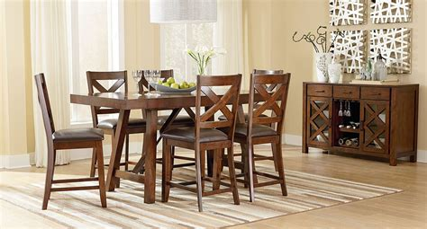 omaha counter height dining room set brown casual