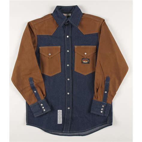 Two Tone Sleeve Shirt s rasco 174 10 oz retardant two tone sleeve