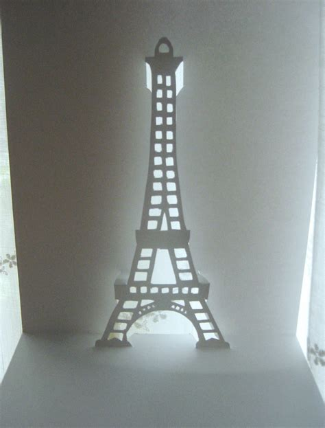 eiffel tower pop up card template pdf what the want tutorial biglietto kirigami tour