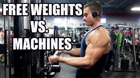free weights vs machines workout