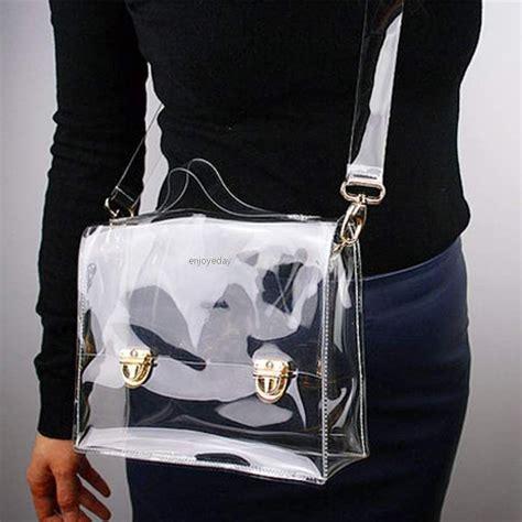 michael kors vinyl purse fashion pvc transparent bag clear handbag tote shoulder