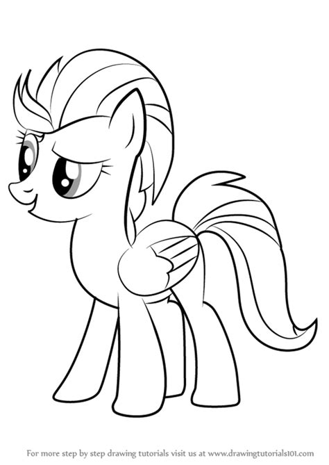my little pony lightning dust coloring pages learn how to draw lightning dust from my little pony