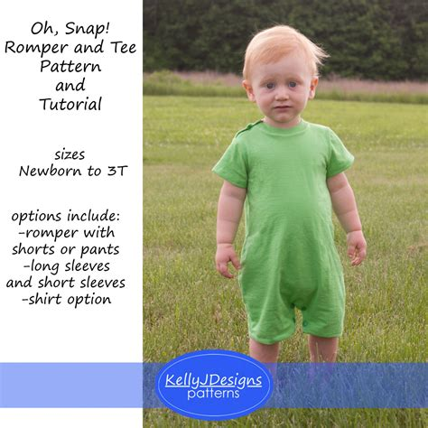 Oh Snap By Jibrizy Tutorial oh snap romper and pattern and tutorial snap shoulder romper and t shirt pattern for