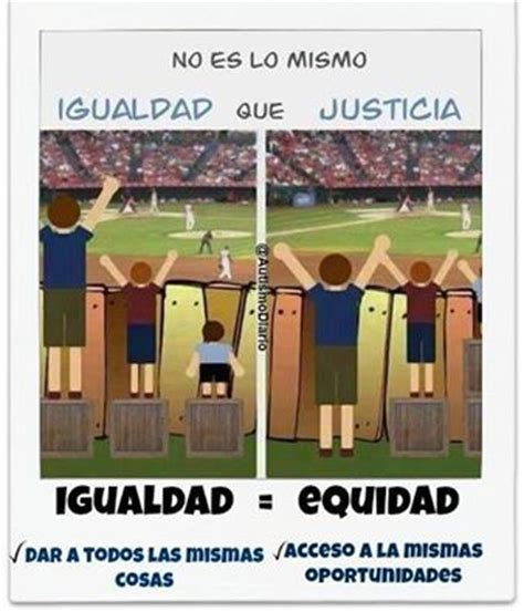 imagenes de justicia educativa igualdad vs equidad educaci 243 n pinterest