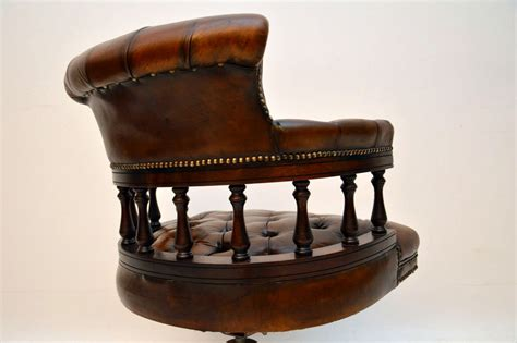 Antique Desk Chairs Swivel by Antique Leather Swivel Desk Chair Marylebone Antiques