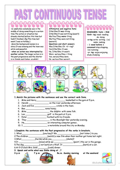 pattern past continuous tense all worksheets 187 past continuous tense worksheets for