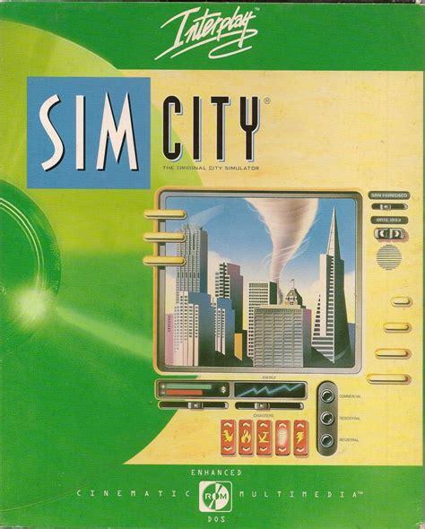 dating sim dos games simcity 1989 dos box cover art mobygames