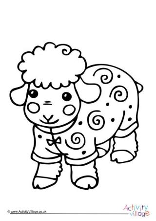 coloring pages for year of the sheep sheep colouring pages