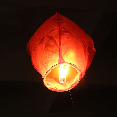 Paper Lanterns That Fly - 1pc paper sky wishing lanterns fly candle l
