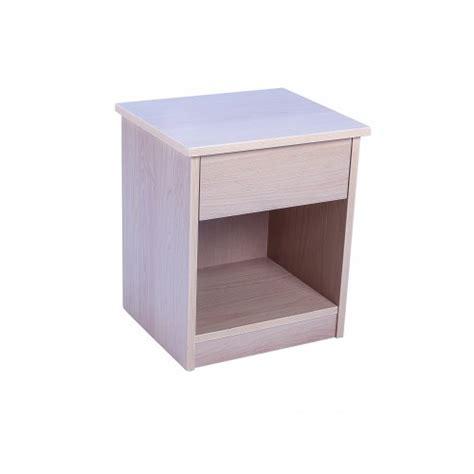 comodino da letto comodino con un cassetto ed una mensola in legno laminato