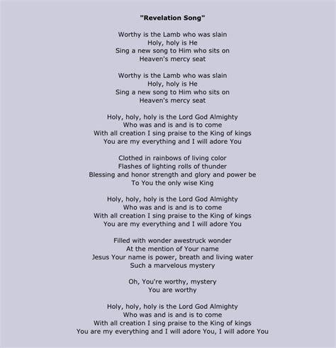 the song lyrics revelation song lyrics inspirational
