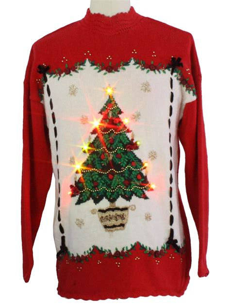 light up ugly christmas sweater beldoch popper unisex