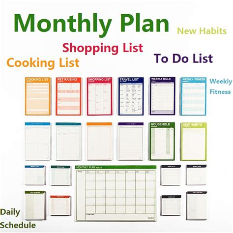 my book therapy keeper planner 2018 plan do all in one amazing yearly planner brilliant writer series books aliexpress buy monthly plan big 15 sheets weekly
