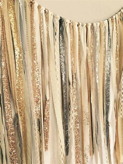 gold and silver curtains gold silver chagne rose gold sequin lace ribbon