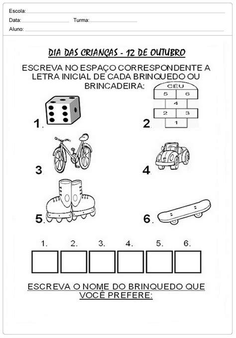 Atividades Dia das Crianças para imprimir. – Educação e