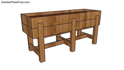waist high raised garden bed  diy plans