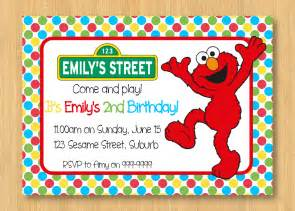 items similar to elmo printable birthday invitation 5 x 7 sesame on etsy
