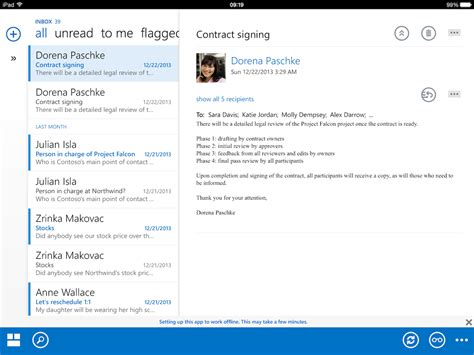 email first media communicate with colleagues using email on office 365