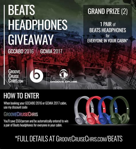 beats headphones giveaway for gccabo 2016 and gcmia 2017 groove cruise chris - Beats Giveaway 2017
