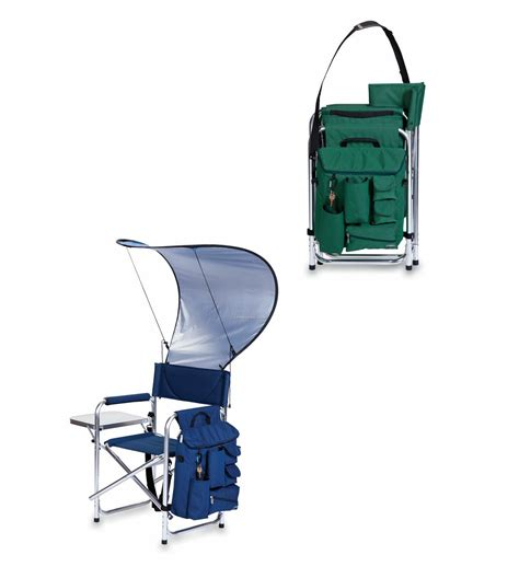 folding chair with canopy and cooler cobra folding sports chair w canopy caddy cooler china