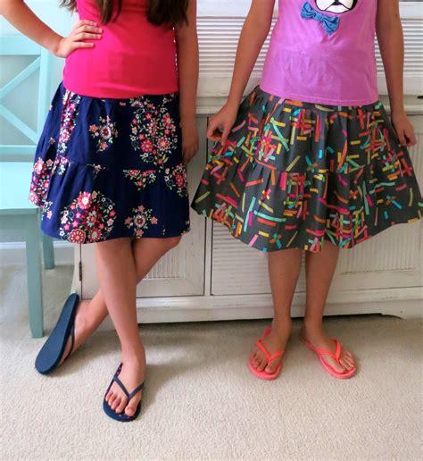 skirt pre teen mmmcrafts quick tiered skirt tutorial for preteens