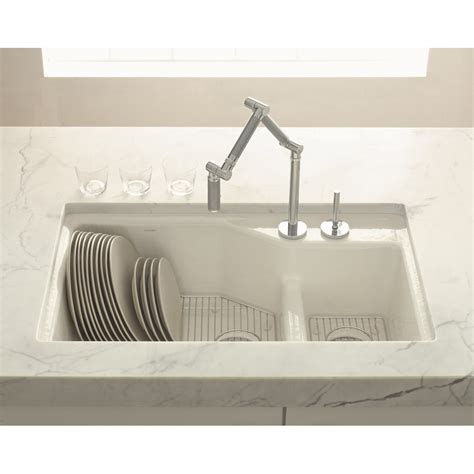 undermount kitchen sinks uk kohler indio double offset smart divide 1 5 bowl 838mm x