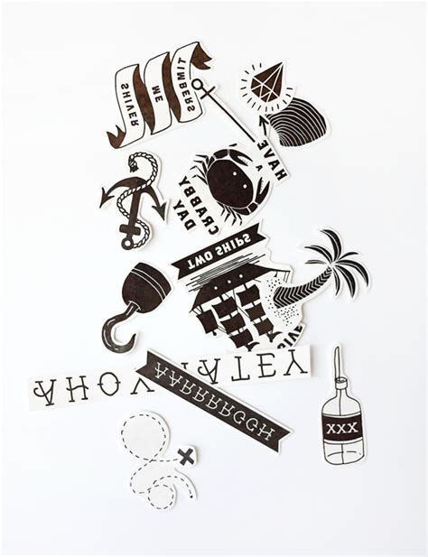 printable temporary pirate tattoos