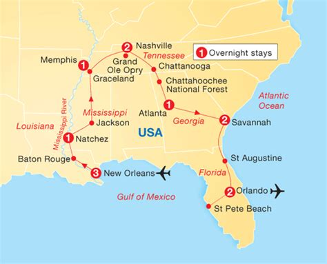 usa map states new orleans new orleans the south florida