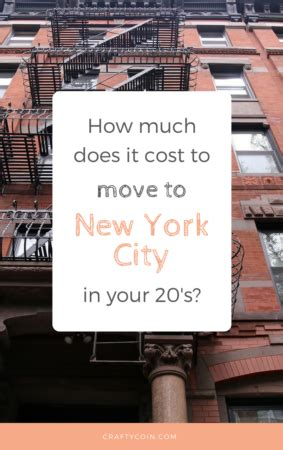 how much does it cost to move to nyc in your 20s crafty