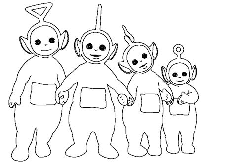 Teletubbies Coloring Pages Getcoloringpages Com