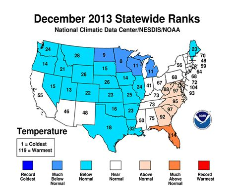 us weather map december year 2013 temperature rankings data lincoln weather and
