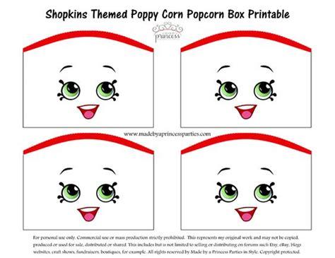 shopkins themed poppy corn popcorn box free printable made