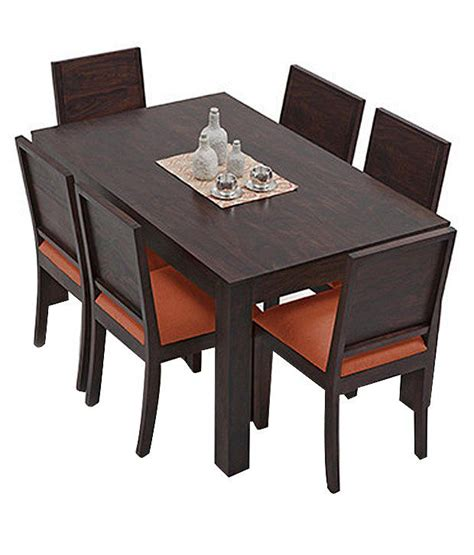 Solid Wood 6 Seater Dining Set Buy Solid Wood 6 Seater Dining Set At Best Prices In Solid Wood 6 Seater Dining Set Buy Rs 24599 Snapdeal