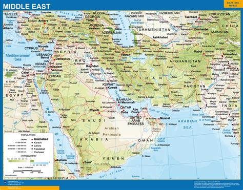 Wall Vinyl by Our Middle East Wall Map Wall Maps Mapmakers Offers