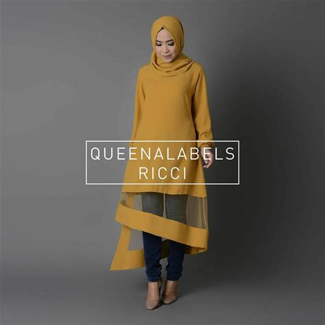Tunik Mix Batik Ready ricci by queenalabels jual busana muslim